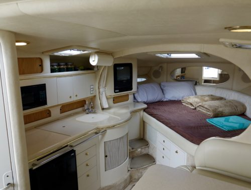 Sea Ray Sundancer 310, day trips, dinner cruises, brewery tours.